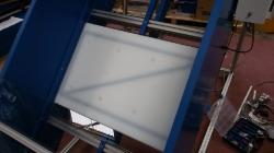 plate metal detector under conveyor bed